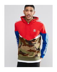 Adidas Originals Red Camo Pack Hoodie Ay8106 for men