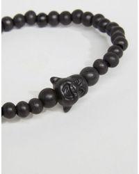 Icon Brand - Beaded Bracelets In 2 Pack - Black for Men - Lyst