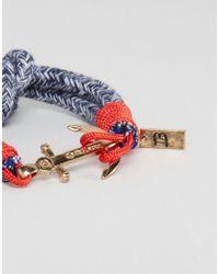 Icon Brand   Anchor Woven Bracelet In Blue for Men   Lyst