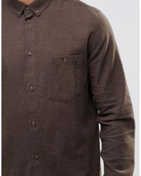 Weekday Natural Badtimes Beige Neps Shirt Button Down for men