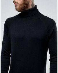 Weekday Black Trey Roll Neck Knit Jumper for men