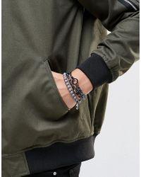 Icon Brand - Gray Beaded Bracelet Pack In Grey for Men - Lyst