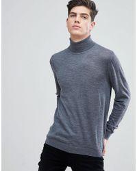 Mango - Gray 100% Wool Sweater for Men - Lyst