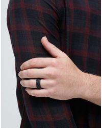 Icon Brand - Ridge Band Ring In Black for Men - Lyst