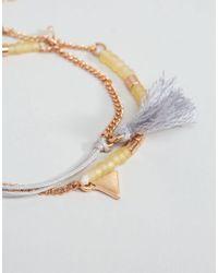 Pilgrim - Metallic Charm Friendship Bracelet - Lyst