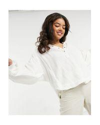 Кремовая Рубашка С Планкой На Пуговицах Beach Day-белый Free People, цвет: White