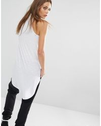 Noisy May Petite - Multicolor High Neck Sleeveless Top With Dipped Hem - Lyst