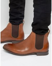 ALDO Brown Merin Chelsea Boots In Tan Leather for men