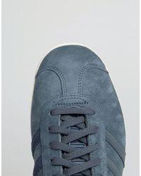 Adidas Originals - Blue Originals Navy Suede Ponyskin Trainers - Lyst