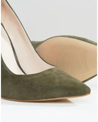 Office Green Shop Suede Gold Heeled Shoes