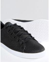 Le Coq Sportif Black Glitter Agate Lo Trainers