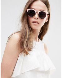 A.J. Morgan - Round Sunglasses - Pink - Lyst