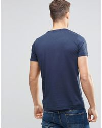 Tommy Hilfiger   Blue T-shirt With Floral Infill Logo In Navy In Regular Fit for Men   Lyst