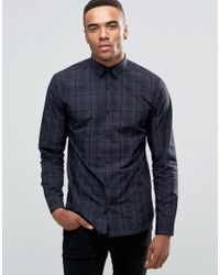 Jack & Jones - Blue Premium Long Sleeve Slim Smart Shirt In Check for Men - Lyst