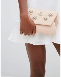 Lavand   Pink Embellished Envelop Clutch Bag   Lyst