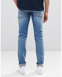 Pepe Jeans Blue Pepe Hatch Slim Jeans F70 Ice Shock Wash for men