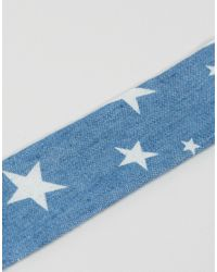 ASOS - Blue Wide Stars Choker Necklace - Lyst
