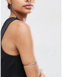 ASOS - Metallic Sleek Ball Arm Cuff - Lyst