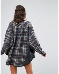 Free People - Black Constellations Within Buttondown Plaid Jacket - Lyst