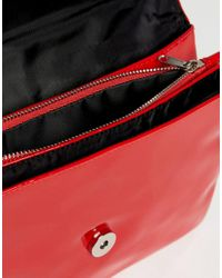 Monki Red Patent Chain Bag