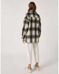 Pull&Bear White Overshirt Shacket