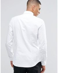 Reiss - White Slim Oxford Shirt With Button Down Collar for Men - Lyst