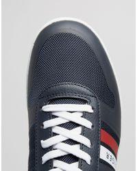 Tommy Hilfiger Blue Denzel Logo Trainers - Navy for men