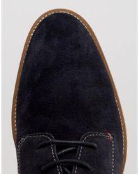 Tommy Hilfiger Blue Dallen Suede Derby Shoes - Navy for men