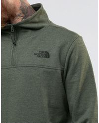 The North Face | Sweatshirt With 1/4 Zip In Green - Green for Men | Lyst