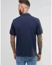 The North Face Blue Polo Shirt With Tnf Logo In Navy - Navy for men