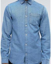 Jack & Jones - Blue Denim Shirt for Men - Lyst