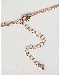 ASOS - Metallic Spike & Triangle Charm Multirow Choker Necklace - Lyst