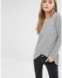 ONLY | Multicolor Nly Twist Cross Front Knit Jumper | Lyst