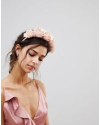 ASOS Pink Asos Statement Blush Floral Bridesmaid Headband