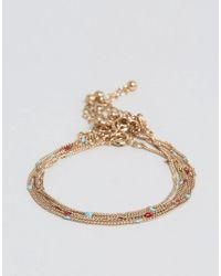 ASOS | Metallic Lightweight Chain Bracelet Pack | Lyst