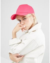 ASOS | Pink Plain Baseball Cap With New Fit | Lyst