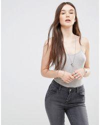ONLY - Gray Cami Bodysuit - Lyst