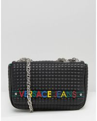 1a818975afc9 Versace Jeans Shoulder Bag With Coloured Letters in Black - Lyst