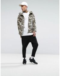 Bershka - Green Lightweight Jacket In Camo for Men - Lyst
