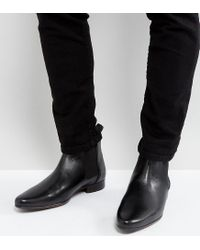 ASOS Asos Wide Fit Chelsea Boots In Black Leather for men
