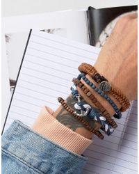 Icon Brand - Multicolor Nautical Bracelet Pack for Men - Lyst