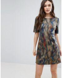 Lavand | Multicolor Smudge Print Skater Dress | Lyst