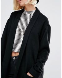 Weekday Black Knitted Cocoon Coat