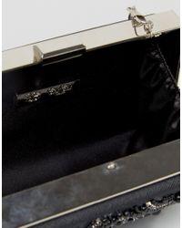Chi Chi London   Rectangular Embellished Box Clutch In Black   Lyst