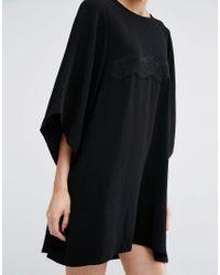 Essentiel Antwerp Black Misericordia Lace Panel Dress