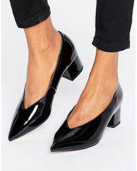 ASOS | Black Swipe Pointed Heels | Lyst