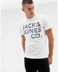 Jack and Jones - T-shirt à imprimé aux couleurs vives Jack & Jones pour homme en coloris White