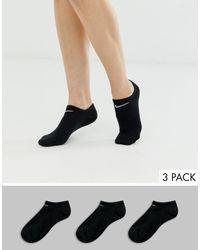 Nike Black – e Sneakersocken im 3er-Pack