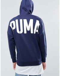 PUMA - Blue Evo Bold Logo Hoodie for Men - Lyst