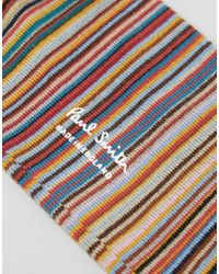 Paul Smith Blue Three-pack Striped Stretch Cotton-blend Socks for men